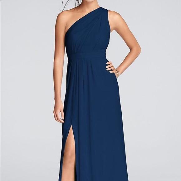 66fe81e6517 David s Bridal Dresses   Skirts - David s bridal long one-shoulder  bridesmaid gown